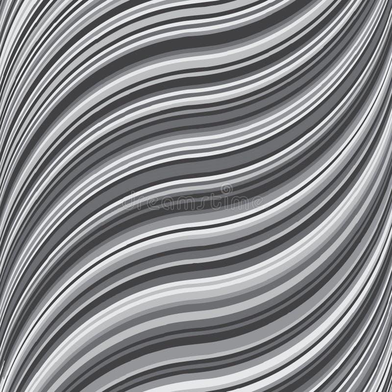 Golvend strepen kleurrijk helder vers vectorpatroon Geometrische abstracte maniertextuur Grafische stijl voor behang, die fabr ve stock illustratie