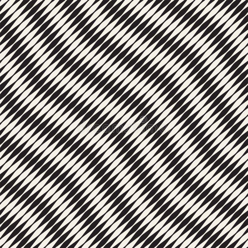 Golvend strepen vector naadloos patroon Retro golvende gravuretextuur Het geometrische ontwerp van zigzaglijnen N vector illustratie