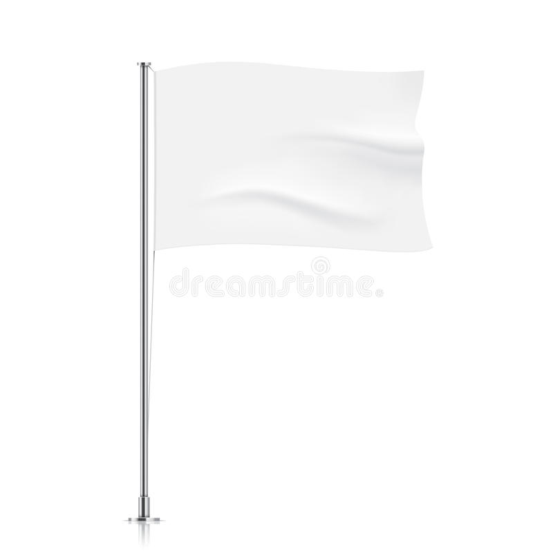 Golvend witte vlagmalplaatje stock foto's