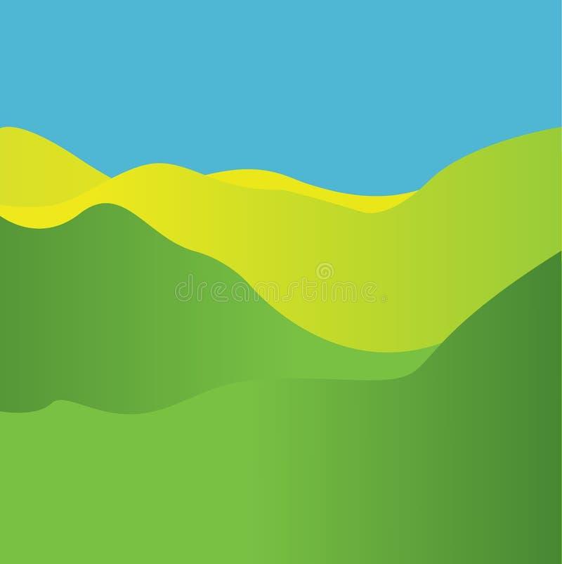 Golvende Achtergrond Dynamisch effect Vector illustratie stock illustratie