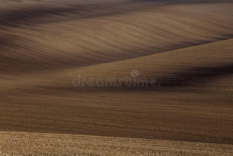 Golvende de herfstgebieden in Moravian Toscanië, Tsjechische Republiek royalty-vrije stock foto