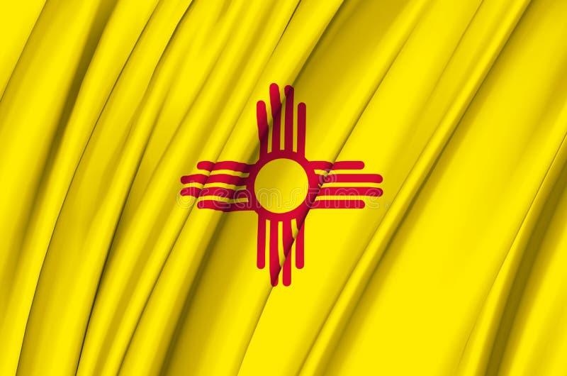 Golvende de vlagillustratie van New Mexico stock illustratie