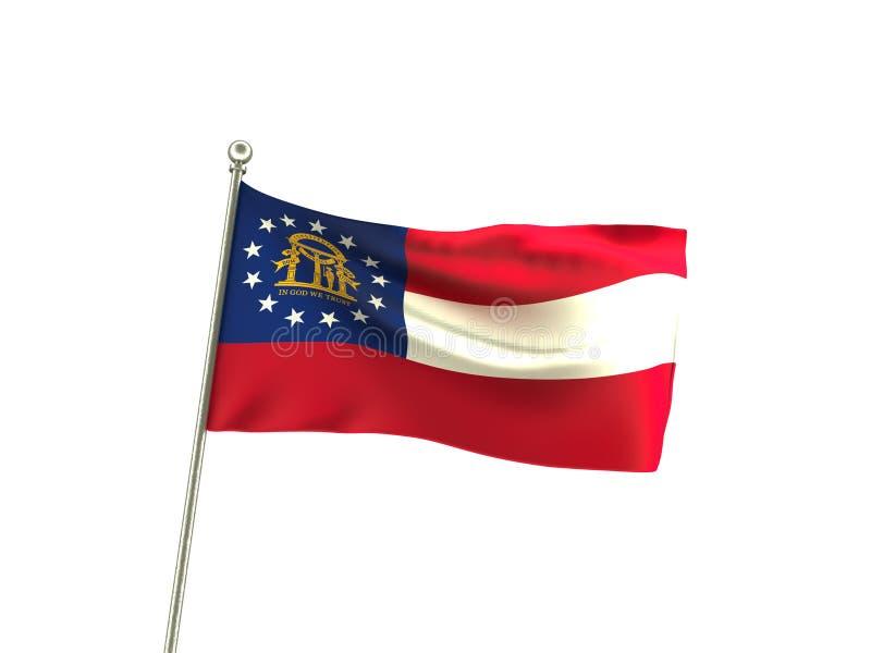 Golvende Georgia Flag stock illustratie
