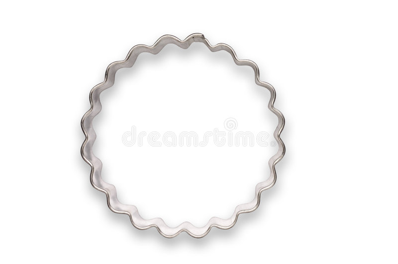 Golvende gevormde koekjessnijder stock afbeeldingen