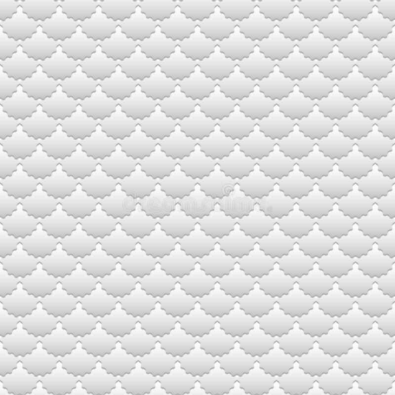 Golvende grijze schalenachtergrond stock illustratie