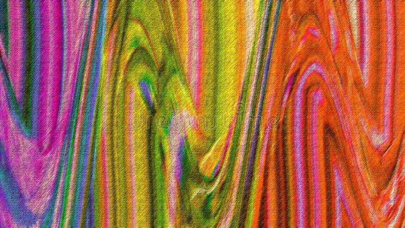 Golvende kleurenplons Hand geschilderde samenvatting gekleurde verfplons Grunge schilderde digitaal document Het veelkleurige art stock foto's
