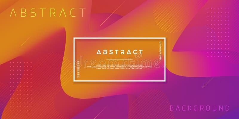 Golvende kleurrijke achtergrond met 3D stijl Moderne vloeibare achtergrond Abstracte achtergrond met zich roze, rood, purper meng stock illustratie