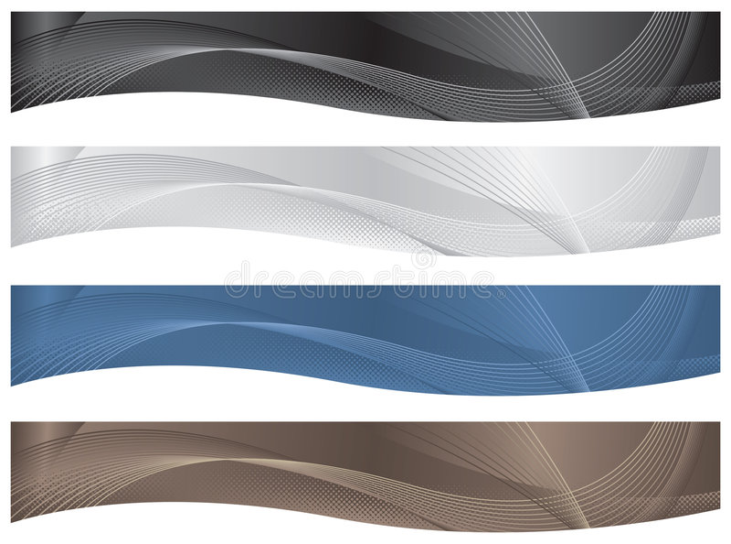 Golvende Kopballen/Banners - Neutrals vector illustratie