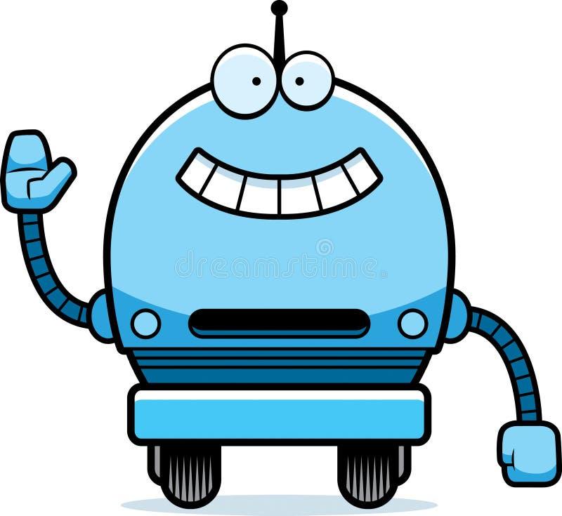 Golvende Mannelijke Robot vector illustratie