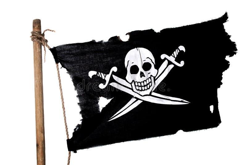 Golvende piraatvlag royalty-vrije stock afbeeldingen