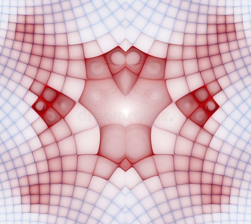 Golvende symmetrische cellenpatronen Geometrische, organische vormen Abstract kleurrijk geometrisch patroon voor ontwerp en insta stock illustratie
