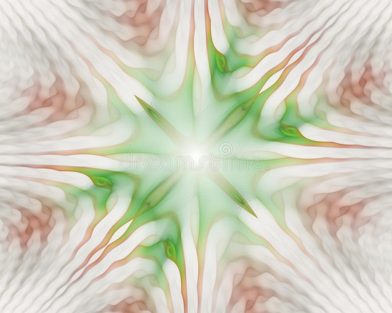 Golvende symmetrische cellenpatronen Geometrische, organische vormen Een mooie achtergrond voor het substraat stock illustratie