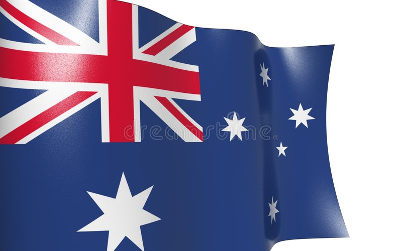 Golvende vlag van Australië stock illustratie