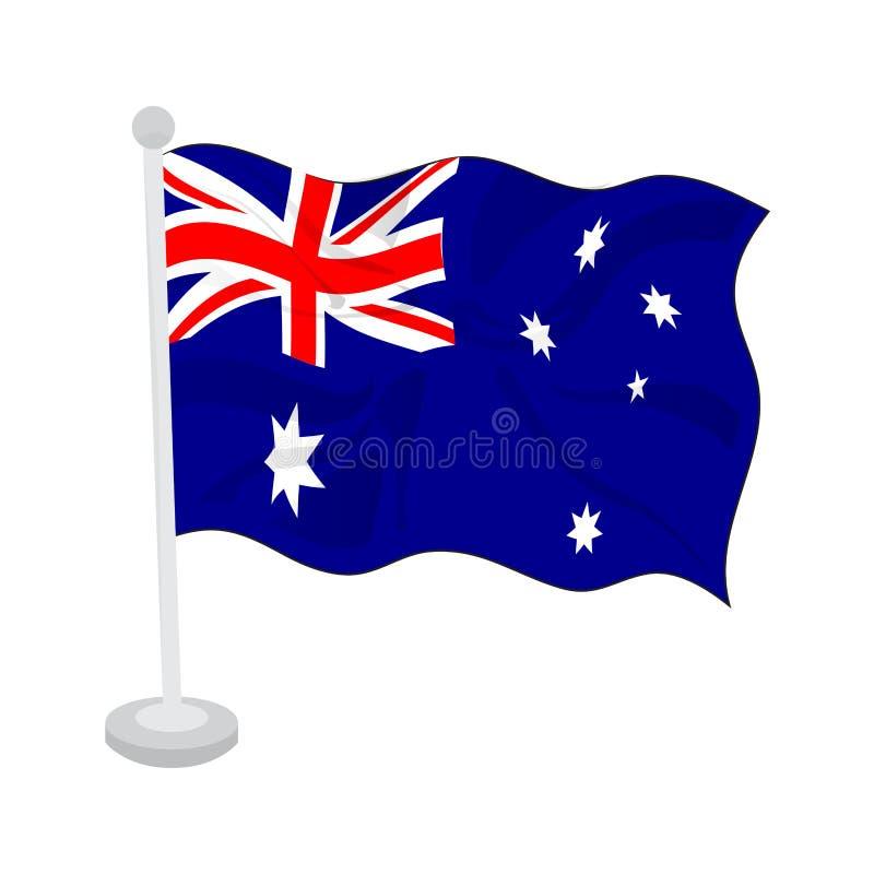 Golvende vlag van Australi? stock illustratie