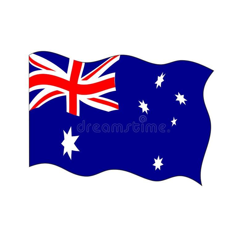 Golvende vlag van Australi? royalty-vrije illustratie