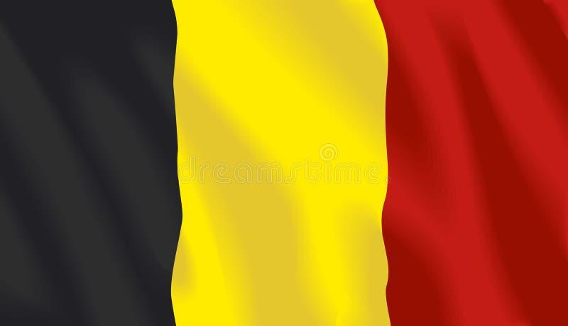 Golvende vlag van België vector illustratie