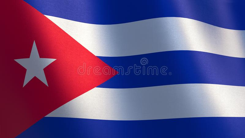 Golvende vlag van Cuba 3D Illustratie royalty-vrije illustratie