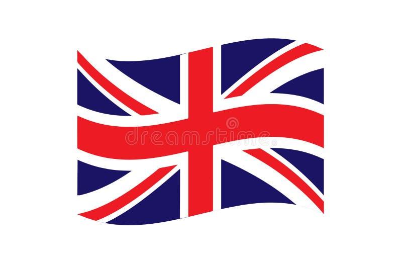 Golvende Vlag van de Vectorillustratie EPS10 van het Verenigd Koninkrijk stock illustratie