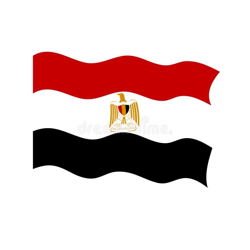Golvende vlag van Egypte royalty-vrije illustratie