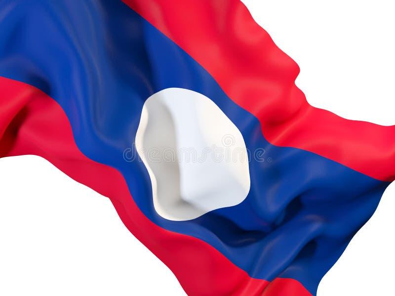 Golvende vlag van Laos stock illustratie