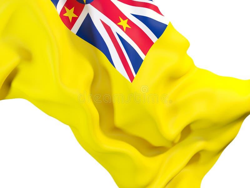 Golvende vlag van niue royalty-vrije illustratie