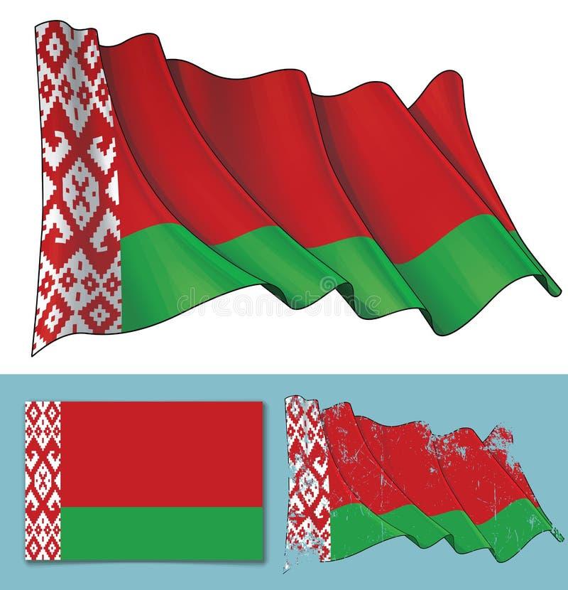 Golvende vlag van Wit-Rusland royalty-vrije illustratie