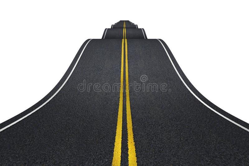 Golvende weg royalty-vrije illustratie