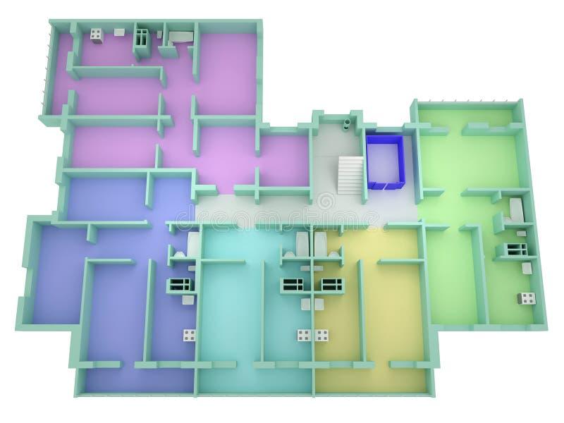 golvhusplan vektor illustrationer