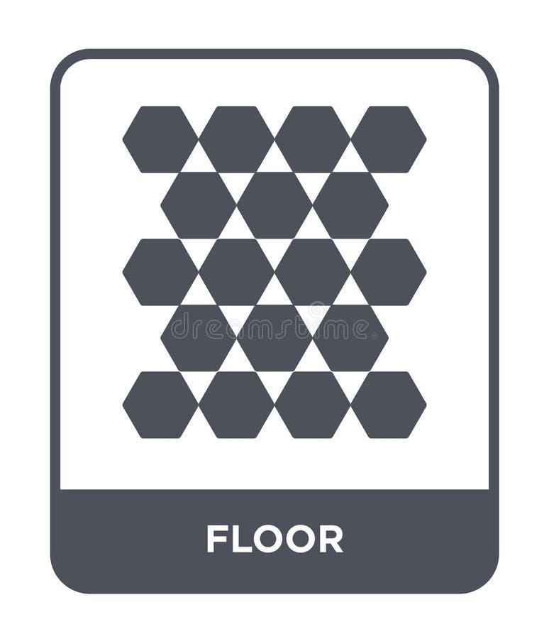 golvsymbol i moderiktig designstil golvsymbol som isoleras på vit bakgrund enkelt och modernt plant symbol för golvvektorsymbol f stock illustrationer