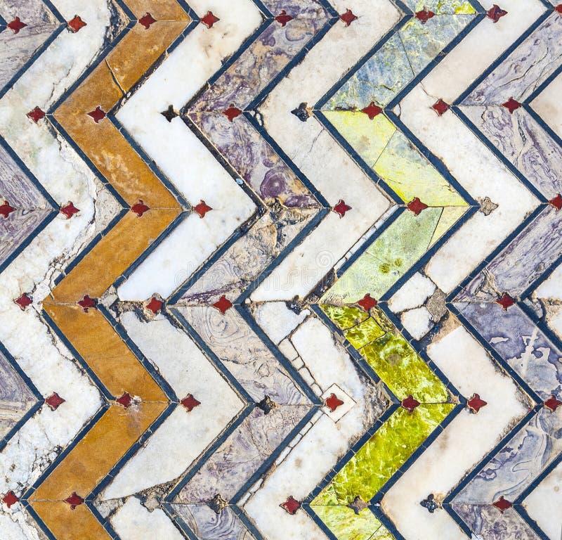 Golvtegelplattor som göras av marmor royaltyfria foton