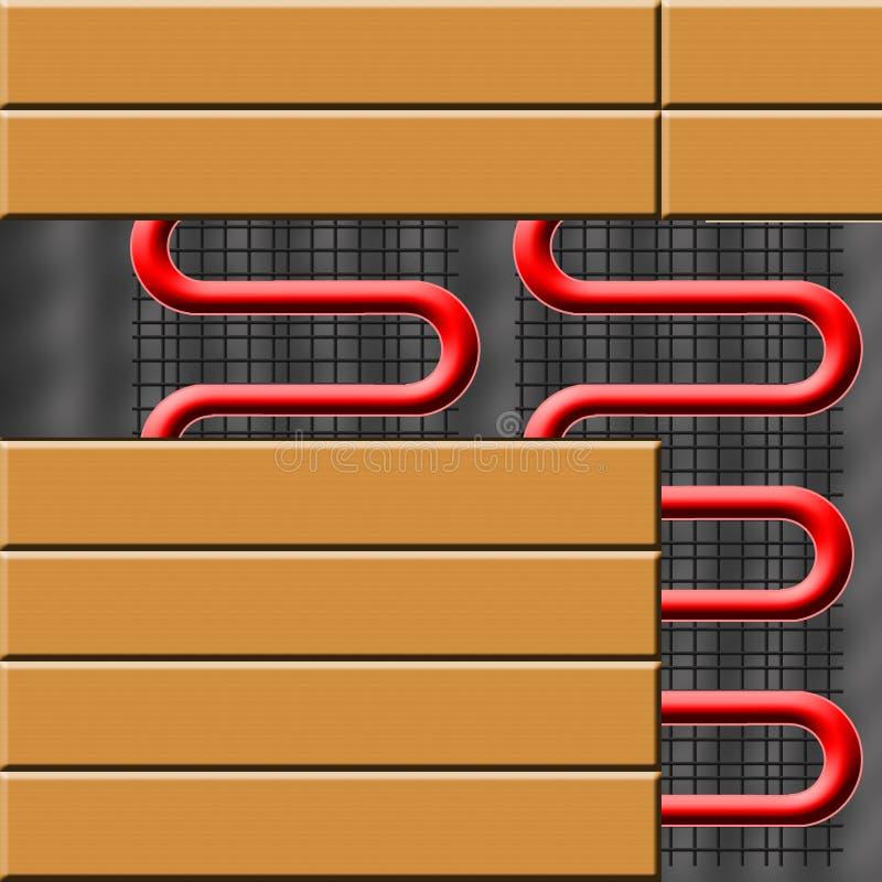 golvuppvärmning stock illustrationer