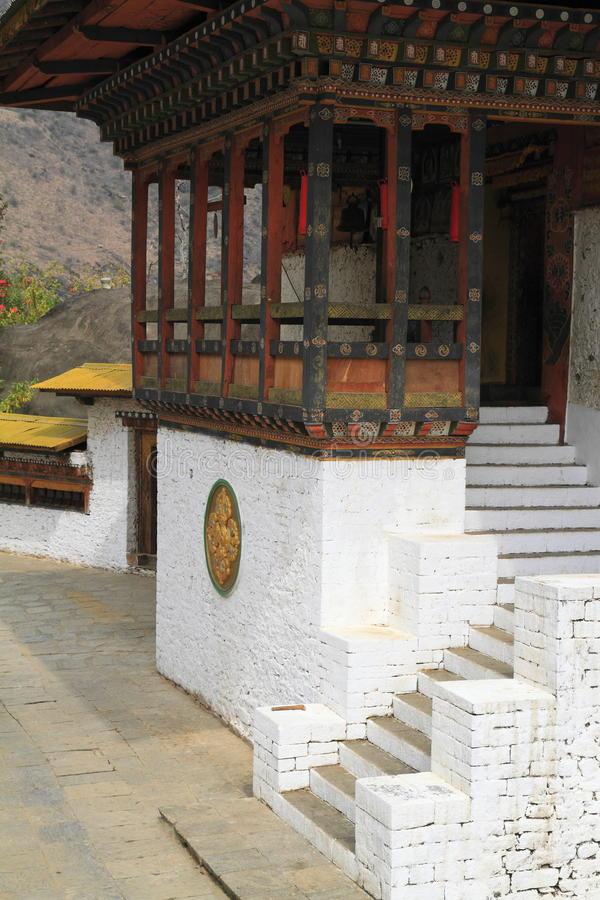 Gom Kora Trashigang, Бутан стоковое изображение