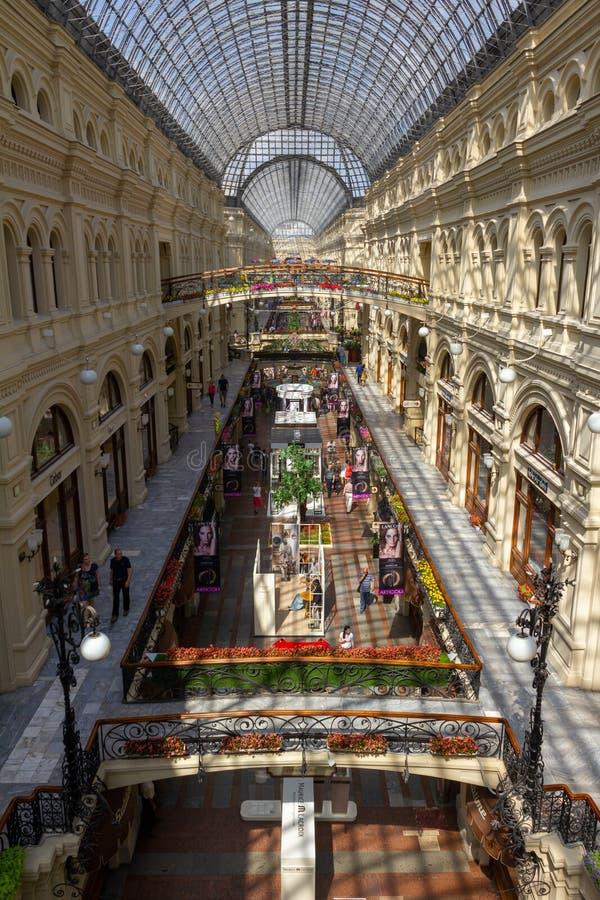 Gom Moskou op zonnige dag royalty-vrije stock afbeeldingen