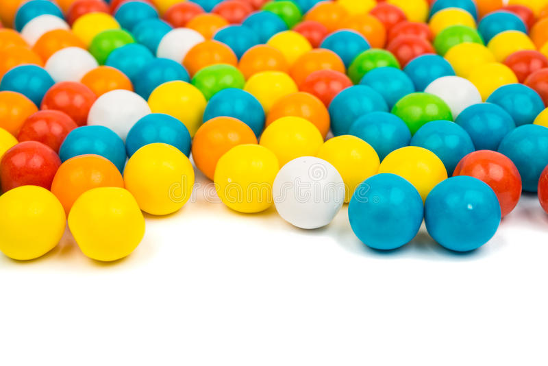 Goma colorida dos feijões de geleia imagens de stock