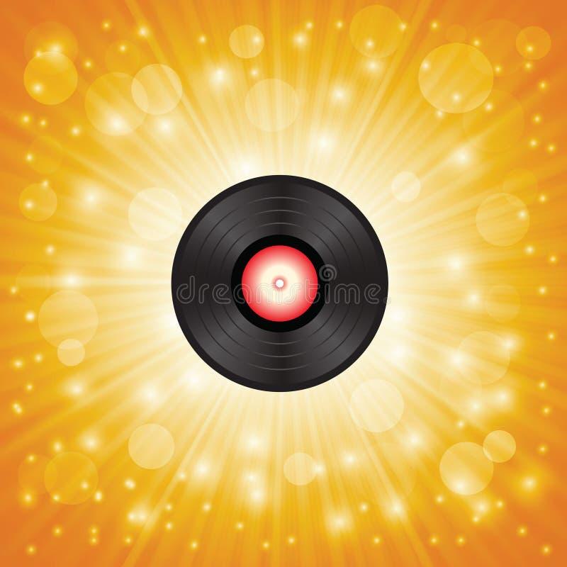 Goma-laca da música ilustração do vetor
