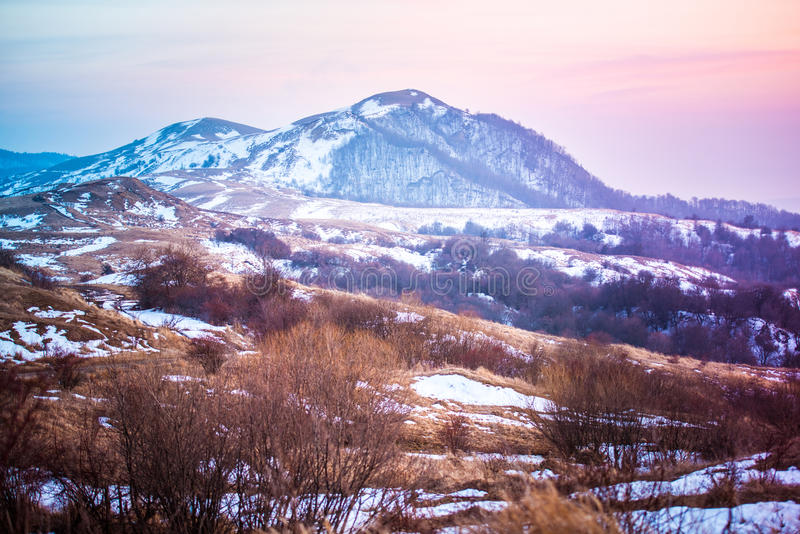 Gombori. Pass in Caucasus mountains, Kakheti region, Georgia royalty free stock image