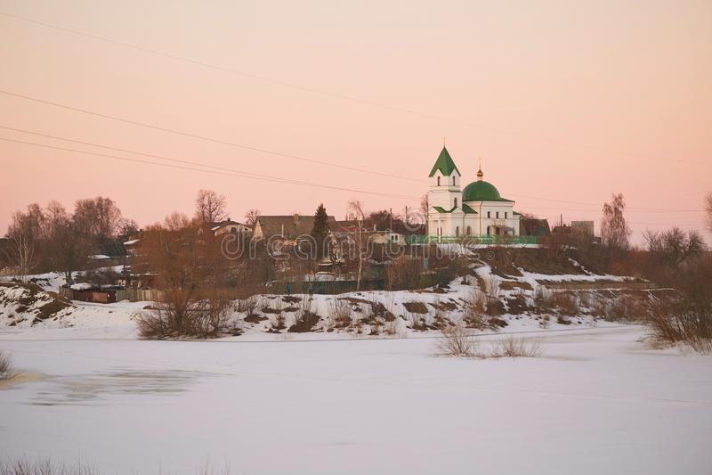 GOMEL, Λευκορωσία - 24 Μαρτίου 2018: Εκκλησία του Άγιου Βασίλη το Wonderworker στοκ εικόνες