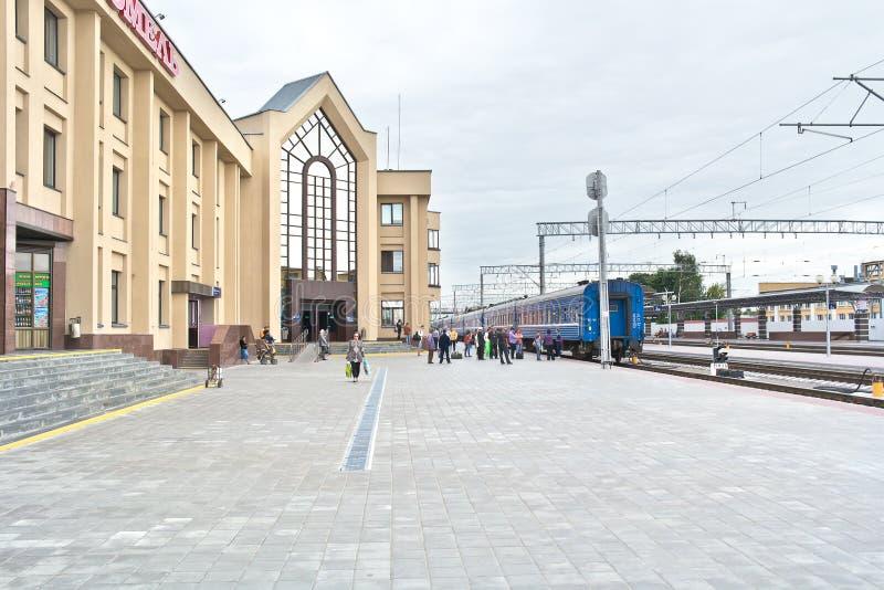 Gomel Bahnstation stockbild