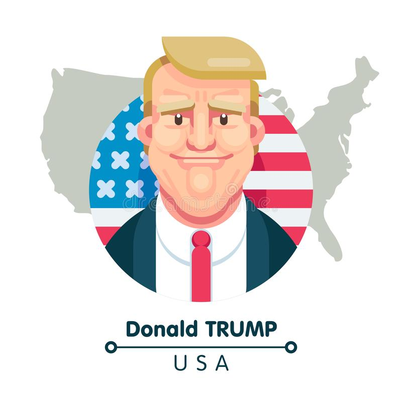 Donald Trump President of the United States of America vector illustration