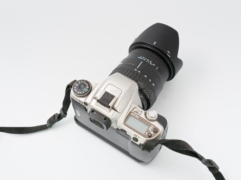 GOMEL BIAŁORUŚ, GRUDZIEŃ, - 11, 2018: Pentax MZ 6 kamera na białym tle obraz royalty free