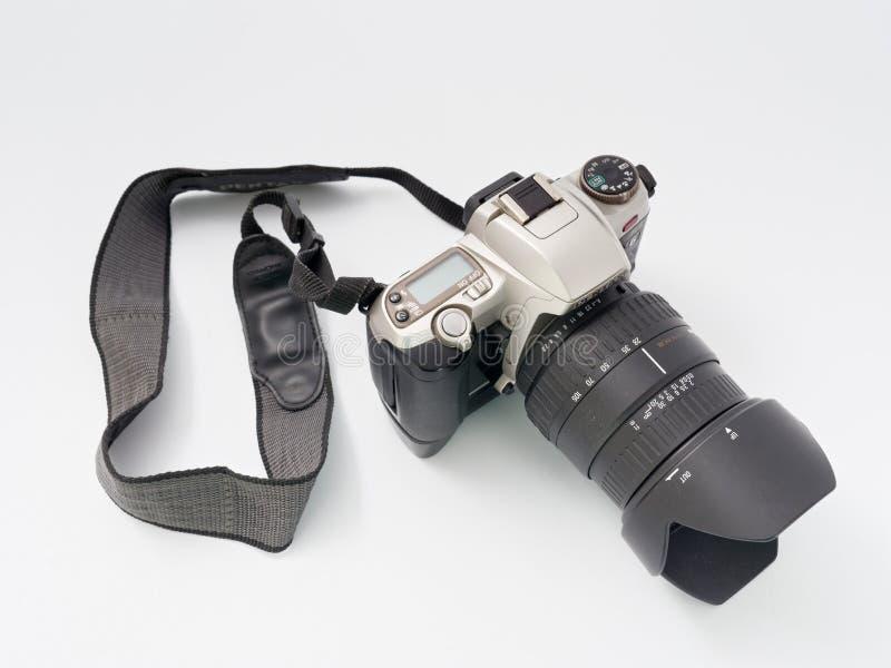 GOMEL BIAŁORUŚ, GRUDZIEŃ, - 11, 2018: Pentax MZ 6 kamera na białym tle fotografia stock