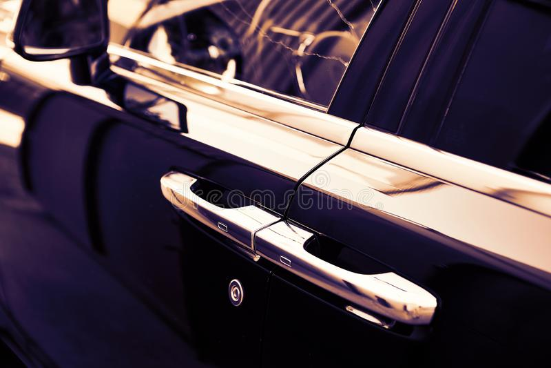 GOMEL, BIELORRUSIA - 1 de junio de 2018: Elementos del coche Rolls Royce imagen de archivo libre de regalías