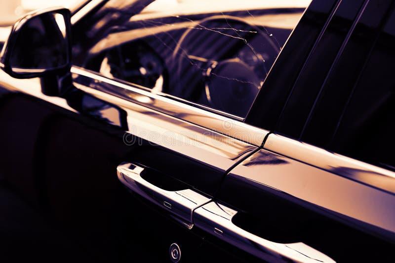 GOMEL, BIELORRUSIA - 1 de junio de 2018: Elementos del coche Rolls Royce foto de archivo libre de regalías