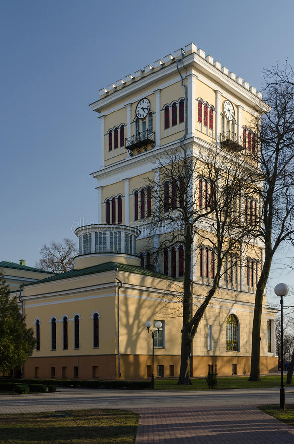 Gomel, Rumyantsev-Paskevich Palace. Tower stock images