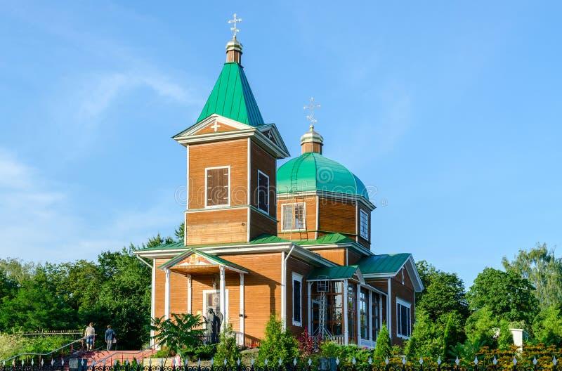 Gomel St Michael kościół, pomnik ofiary Chernoby fotografia stock