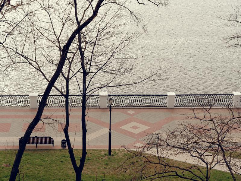 Gomel Vitryssland V?r promenadsikt uppifr arkivbilder