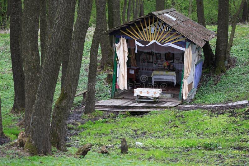 GOMEL, WEISSRUSSLAND - 19. APRIL 2017: Heiliger Frühling nahe dem Dorf von Raduga lizenzfreie stockbilder