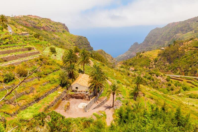 Gomera καναρίνι πανοράματος νησιών στοκ φωτογραφία με δικαίωμα ελεύθερης χρήσης