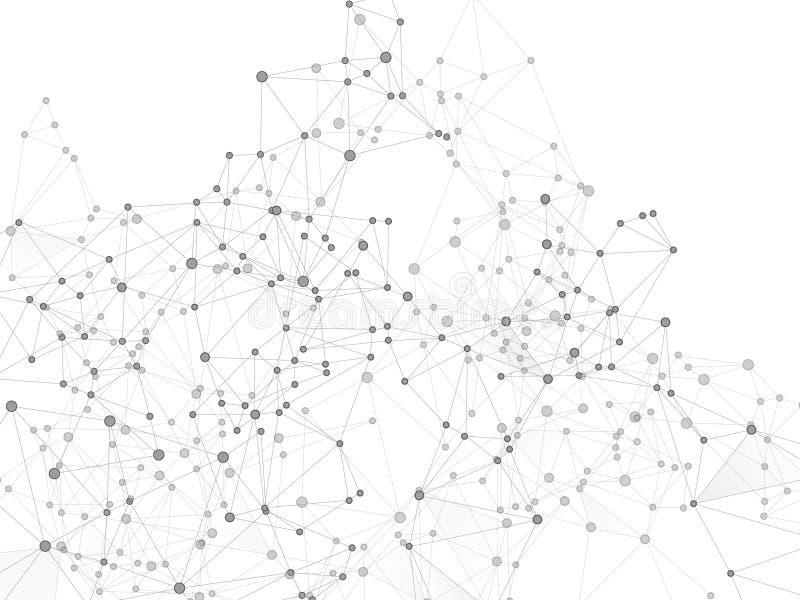 Gometric plexus struktury cybernetyczny pojęcie ilustracji