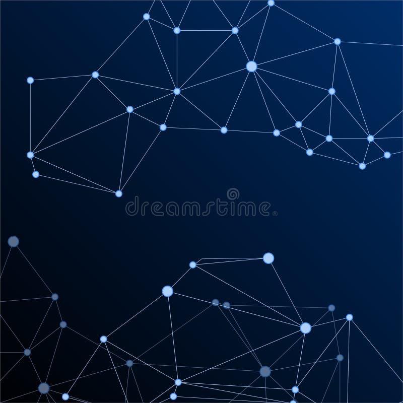 Gometric plexus struktury cybernetyczny pojęcie ilustracja wektor